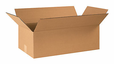 "Box Partners Corrugated Boxes 24"" x 12"" x 8"" Kraft 25/Bundle 24128R"