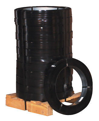 """Box Partners High Tensile Steel Strapping 3/4"""" x .025 Gauge x 1 570' Black 100"""