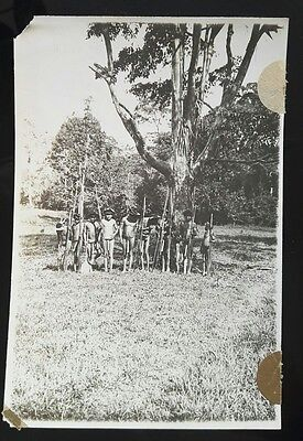 Vintage Original Amazon Tribe Campa Photo Peruvian Indians Forrest Peru Hunters.