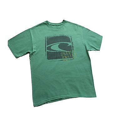 Mens O'neill  Premium T-Shirt  Graphic Green Short Sleeve Crew Tee Size Large
