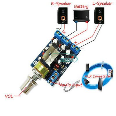 TEA2025B 2.0 Stereo Dual Channel 3W+3W Audio Amplifier Board AMP AC5-9V DC5-12V