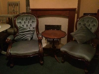 Victorian Nursing Chair Set His And Hers