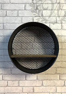 Retro Vintage Industrial Style Metal Shelf Storage Cabinet Cupboard Circle