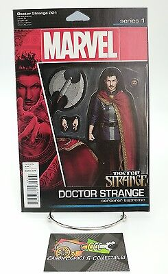 Doctor Strange #1 Action Figure Variant Cover Marvel Comic Book 2015 Volume 4 Dr