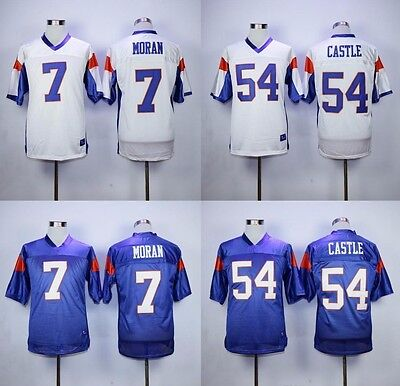 Blue Mountain State Thad Castle Alex Moran Tedesco Football Jersey Blue White