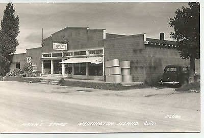 Mann's Store, Washington Island, Wisconsin, 1955 cancel RPPC Postcard