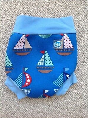 Splash About, Happy Nappy, Baby boy trunks, blue, small