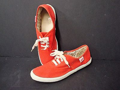RARE Vintage Pepsi Advertising RED Canvas Tennis Shoes, Women's size 8