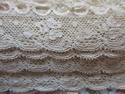 ANTIQUE LENGTH OF SLOTTING/RIBBON/EDGING LACE~5 YARDS x 1 3/8""