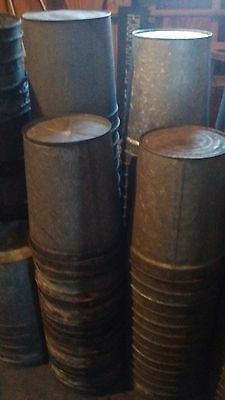 Lot of 10 Galvanized Steel Sap Buckets (with covers)