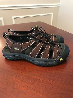 Men's Keen Brown Leather Waterproof Sandals Size 10.5