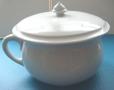 White Ironstone Chamber Pot by J&G Meakin