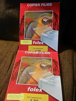 Folex Imaging letter size (8.5 x 11) transparency 2 boxes clear film. 200 sheets