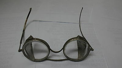 Vintage Pair Safety Googles Glasses Clear Lens Steampunk L@@k