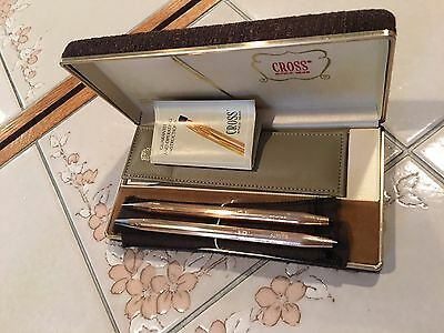 Vintage Cross Gold Filled 14Kt Pen And Pencil Set ,original Case