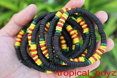 10 Remembering Vietnam War Veteran Black Coconut Stretchy Bracelets Wholesale
