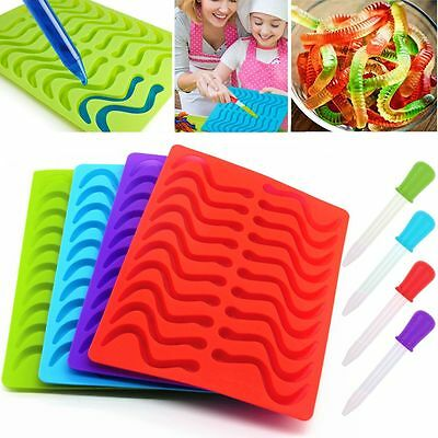 20x Chocolate Jelly Candy Sweet Ice Tray Silicone Makers Gelatin Gummy DIY Molds