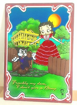 Betty Boop Metal Movie Themed Sign 'Frankly My Dear, I Don't Give A Boop'