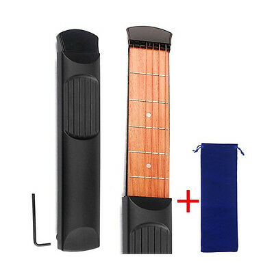 Pocket Guitar Acoustic Practice Tool Gadget Chord Trainer 6 String Fret Portable