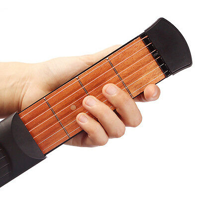 Portable Pocket Guitar Acoustic Practice Tool Gadget Chord Trainer 6 String Fret