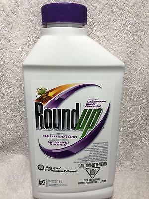 Roundup Super Concentrate Herbicide Domestic Non-Selective Grass Weed Control 1L