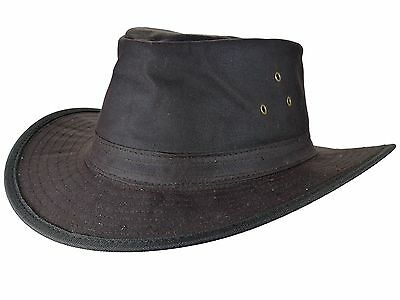 Wax Hat Oilskin Hat Hiking Riding Waxhut Rain Hat Weather Hat Slouch Brown