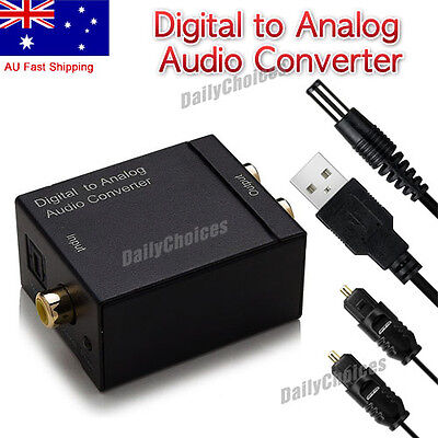 CA Digital Optical Coax Coaxial Toslink to Analog Audio Converter Adapter 3.5mm