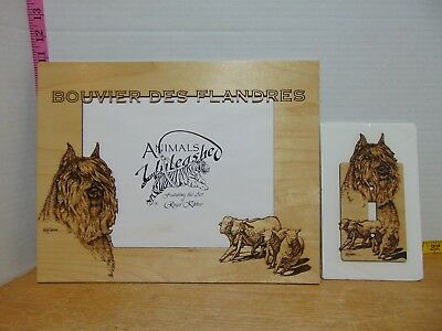 Animals Unleashed Frame Matting & Light Switch Cover Bouvier des Flandres Kibbee