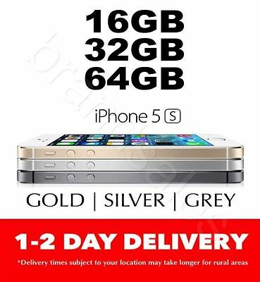 AS NEW Apple iPhone 5S 16GB 32GB 64GB 4G LTE 3 COLORS 100% Unlocked MR MEL
