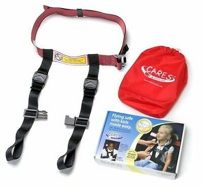 NEW Cares Child Kids Fly Safe FAA Approved Airplane Seat Harness