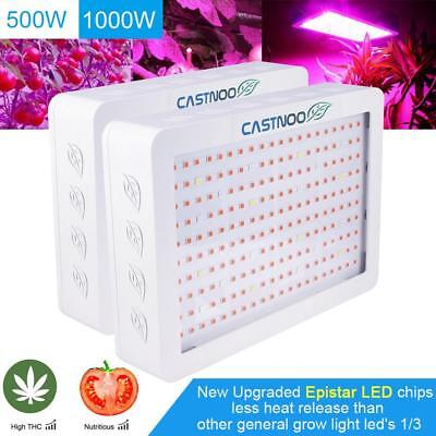 600W 1000W 1200W Double Chip LED Grow Light Indoor Plants Fruits Veg Bloom KJ