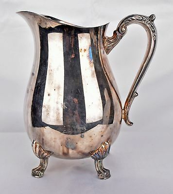 Stunning Vintage Rogers Silver Co Silver Pitcher With Makers Mark And Brand Tags