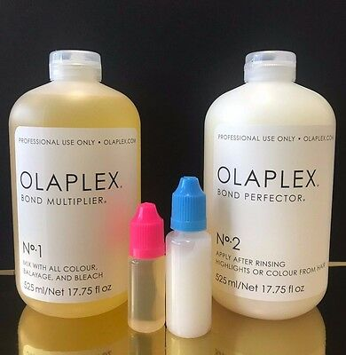OLAPLEX NO.1 Bond Perfector & No 2. 100% AUTHENTIC re-bottled small portions!