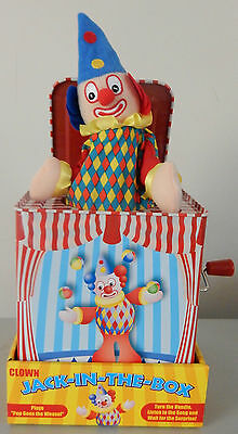 Clown Jack In A Box Wind Up Pop Goes The Weasel Clown Pops Out On The Pop