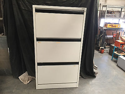 Wide Precision White 3 Drawer Office Storage And Filing Cabinet