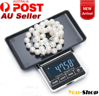 200g-0.01g New Digital Jewelry Electronic Precision Weight Pocket Mini Lab Scale