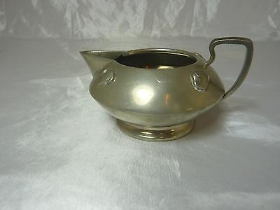 """Fine arts & crafts pewter milk pitcher/jug made by """"English Pewter"""""""