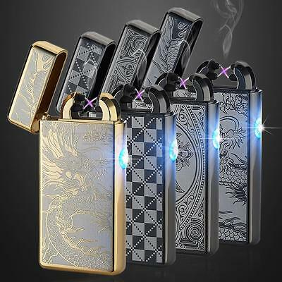 USB Rechargeable Electric LIGHTER Double ARC PULSE Flameless Plasma Torch UK