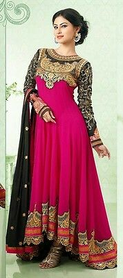 Designer Anarkali Salwar Kameez Suit Pakistani Traditional Indian Dress Material
