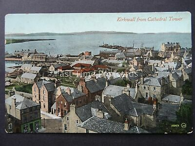 Scotland ORKNEY Kirkwall Town from Cathedral Tower c1926 Postcard by Valentine