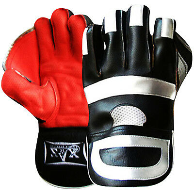 Leather Wicket Keeper Gloves keeping Gloves Cricket (Grippy Plus) Youth,Mens
