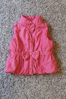 Target Baby Girl Pink Puffer Vest Size 0 (6-12 months)