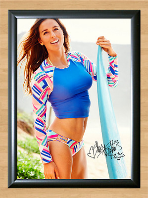 Sally Fitzgibbon Surfing Surfer Signed Autograph A4 Poster Photo Print Swim Wear