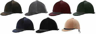 Horka Adults STRAPLESS Cap Horse Dressage/Hunt 56-62cm **ALL COLOURS**