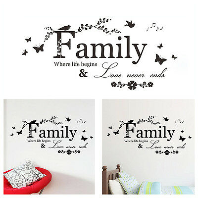 Family Design Wall Sticker Decal Art Bedroom Wallpaper Home Living Room Decor