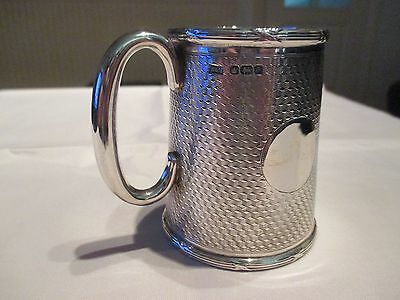 ANTIQUE SMALL SOLID SILVER TANKARD CHRISTENING CUP 1917 + presentation box