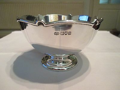 SUPERB IMMACULATE ART DECO SOLID SILVER BOWL London 1913 - 220 grams