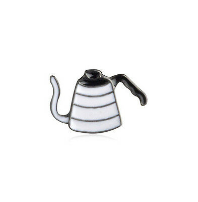 New Barista Cafe Geek Gooseneck Jug Kettle V60 Pour Over Coffee Pin Brooch Badge