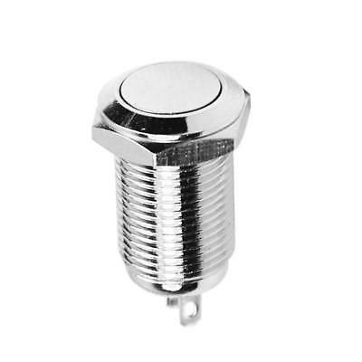 10mm Push Button Switch 1NO 1NC ON/OFF Stainless Steel Shell Self-locking