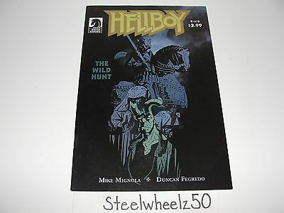 Hellboy The Wild Hunt #8 Comic Dark Horse 2009 Mike Mignola Duncan Fegredo RARE